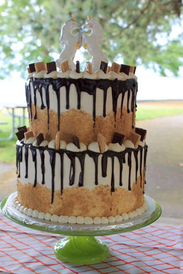 More Images For Cake : S mores Wedding Cake   Summer Camp Culture