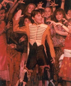 Braff in a 1988 production of Godspell at Stagedoor Manor